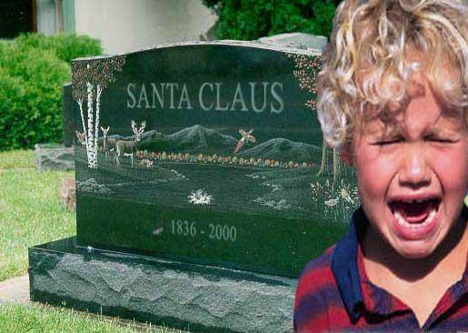 Babbo Natale è morto. Bambini, piangete! | Santa is dead. C'mon, cry little boys!
