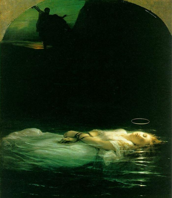 """Paul Delaroche, """"Giovane martire cristiana"""", 1855, Louvre, Parigi"""