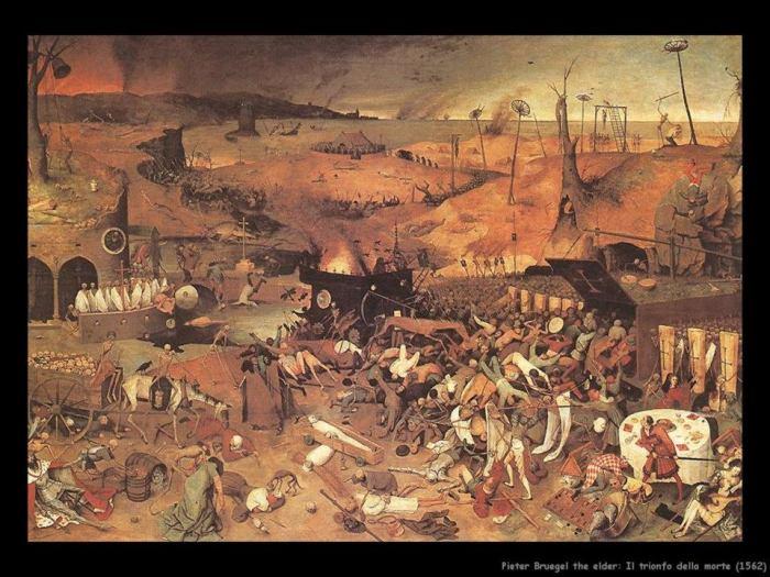 """Pieter Bruegel The Elder, """"Il trionfo della morte"""", 1562 ca."""