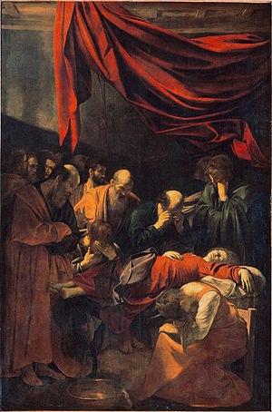 """Caravaggio, """"La morte della Vergine"""", 1604"""