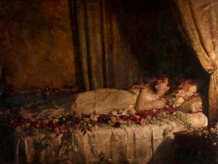 "John Collier, ""Death of Albine"", 1895 ca."