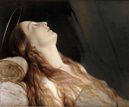 "Paul Hippolyte Delaroche ritrae in ""The Artist's Wife: Louise Vernet on Her Deathbed"" (1845-46), Musée des Beaux-Arts de Nantes"