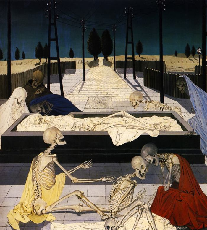 "Paul Delvaux, ""The Focus Tombs"", 1957"