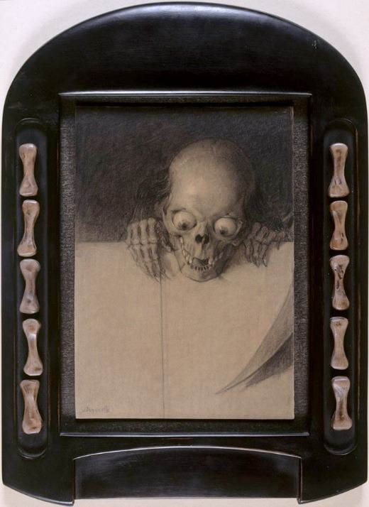 "Julien Adolphe Duvocelle, ""Skull with Protrunding Eyes"", 1904 ca, Musée d'Orsay, Paris"