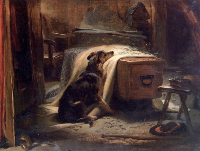 """Il distacco genera freddo, ma l'amore incondizionato tra due esseri viventi persiste nella memoria e profuma di spighe arse al sole. * Edwin Henry Landseer, """"The Old Shepherds Chief Mourner"""", 1837"""