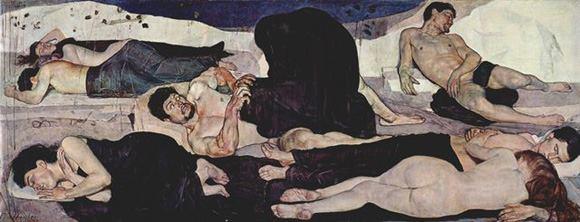 "Ferdinand Hodler, ""La notte"", 1890, Kunstmuseum, Berna"