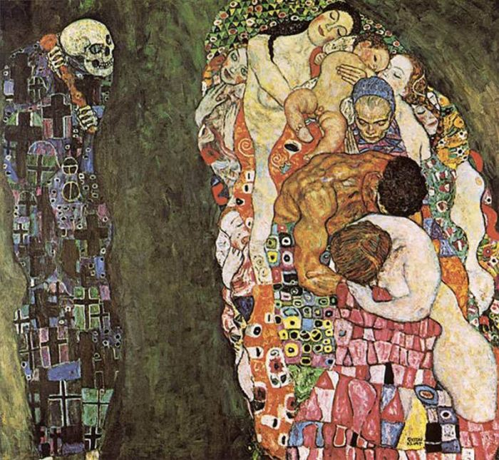 """Gustav Klimt, """"La vita e la morte"""", 1915"""