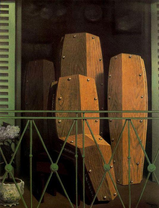 "René Magritte, ""Manet's Balcony"", 1950"