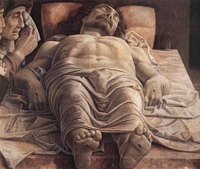 """Andrea Mantegna, """"Il Cristo morto"""", 1475-78"""