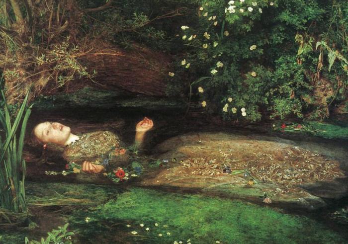 "John Everett Millais, ""Ophelia"", 1851-52"