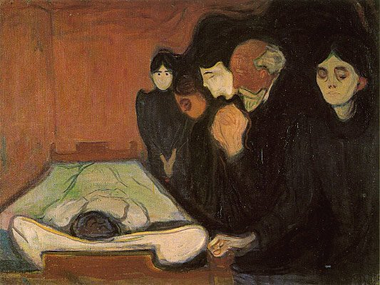 "Edvard Munch, ""Death Bed"", 1895"