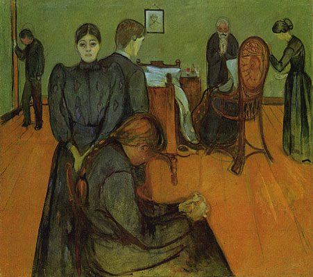 "Edvard Munch, ""Death in Sickroom"", 1893"
