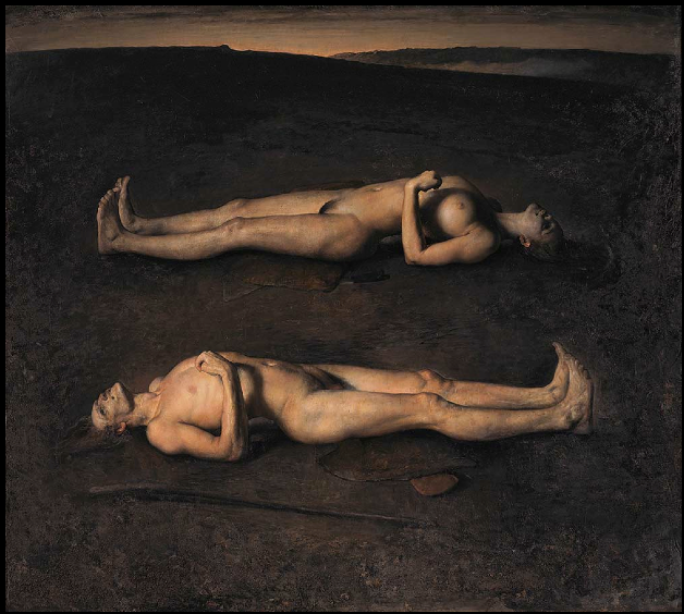 "Il suo quadro più bello sta in casa Bowie. Questo mi piace anche tanto. E ritrae una coppia che sta per mettersi a dormire, per sempre. Come due rette parallele, che mai si sono incrociate. E mai si incroceranno. * Odd Nerdrum, ""Dying Couple"", Goteborg Museum of Art, Goteborg"