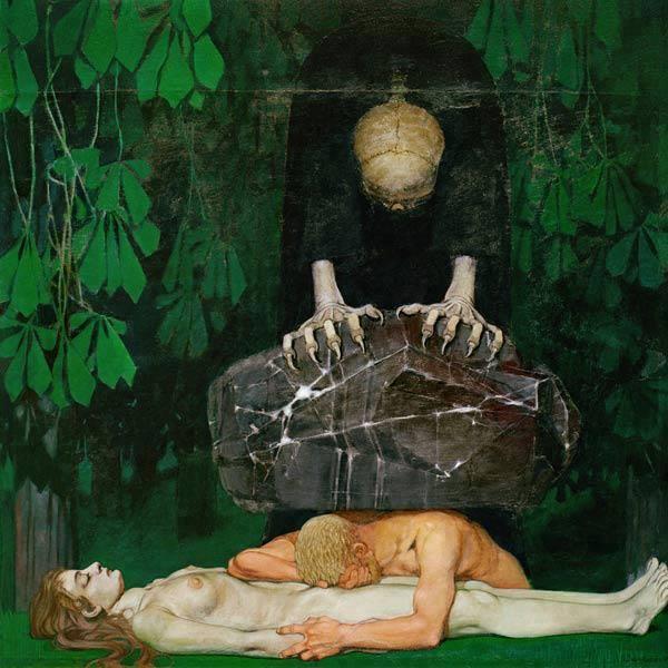 """«Il dolore di vivere prevale sulla gioia a tal punto che la gioia non esiste», oggi ho letto e riflettuto su queste parole, che sono quelle che Kevin Carter, fotografo grandissimo, scrisse su un biglietto, prima di accomiatarsi dal mondo. Poi ho visto """"Grief"""", di Oskar Zwintscher ed ecco uno spazio per la poetica del dolore. Devastante e potentissima. Che con la morte ha molto a che fare. * Oskar Zwintscher, """"Dolore"""", 1898, Städtischen Galerie Dresden"""