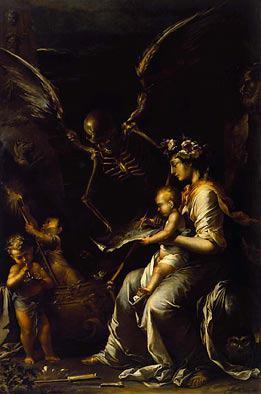 "Salvator Rosa, ""Human Frailty"", 1656 ca."