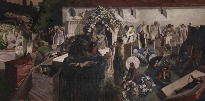 "Sir Stanley Spencer, ""The Resurrection, Cookham"", 1924-27, Tate Gallery, Londra"