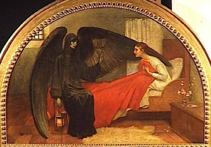 """Marianne Stokes, """"La morte e la fanciulla"""", 1900"""