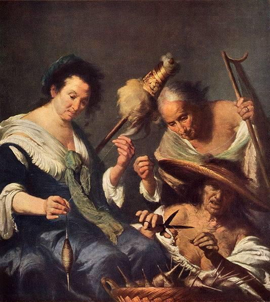 """Bernardo Strozzi, """"Le tre Parche"""", 1664 ca."""