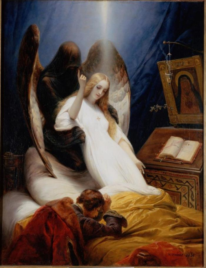 "Emile Jean-Horace Vernet, ""Angel of Death"", 1851"