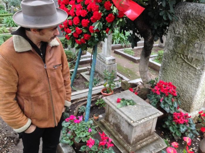 Ceneri di Gramsci reloaded, cimitero Acattolico di Roma