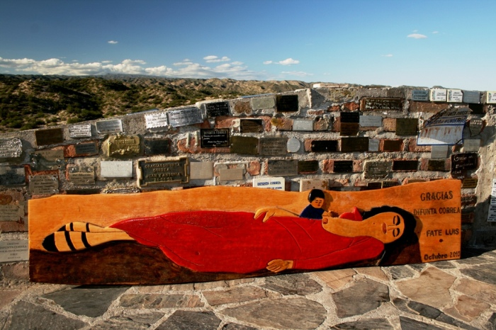 Un murales per la Difunta Correa – Ph. Luis Americo Silva Bonfim su Flickr