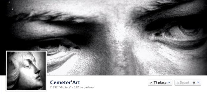 La cover di Cemeter' Art, pagina di oltre 2000 fans.