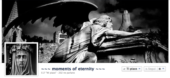 La cover di Moments of eternity, pagina con più di 500 fans.