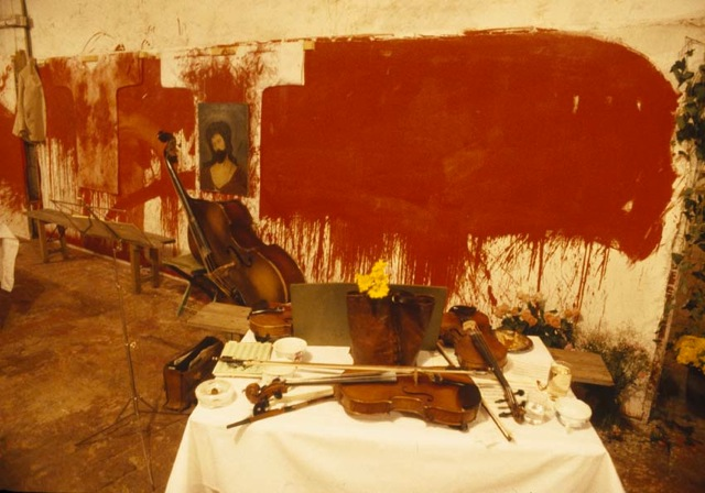 "Hermann Nitsch, ""Das Orgien Mysterien Theater""."