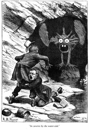 """Illustrazione di AB Frost per il poema """"Phantasmagoria"""" di Lewis Carroll"""