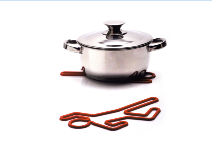 Crime-scene-hot-pot-rack-silicone-red-trivet-hotpot-pan-holder