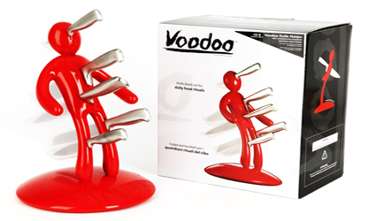 Vodoo Red-Knife-Block-Raffaele-Iannello