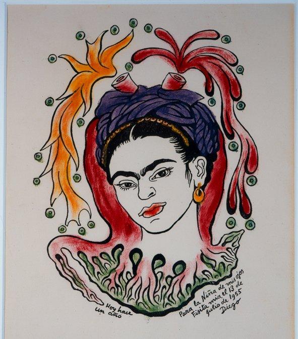 Diego Rivera, Hoy hace un año : Para la niña de mis ojos, fisita mia el 13 do Julio de 1955