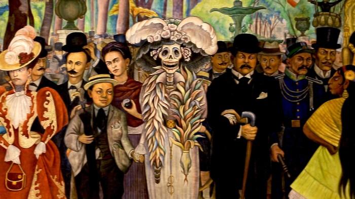 """Diego Rivera, """"Sueño de una tarde dominical en la Alameda Central"""", 1946-47, particolare"""
