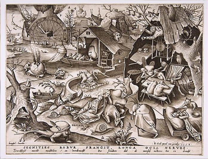 Pieter Van der Heyden, Accidia. Segnities Robur Frangit, Longa Ocia Nervos