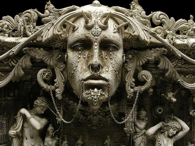 """Kris Kuksi, """"Eden"""", 2010, particolare"""