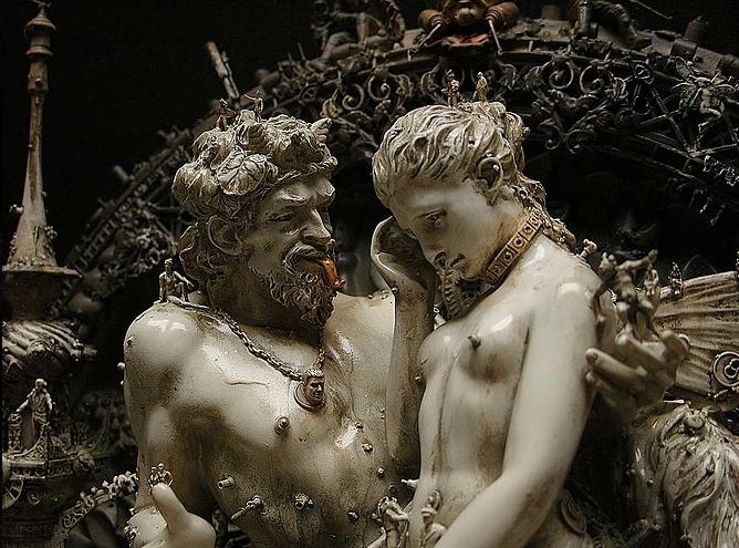 """Kris Kuksi, """"Pan Discomforting Psyche"""", 2009, particolare"""