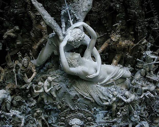 "Kris Kuksi, ""Passion and Resistance"", 2011, particolare"